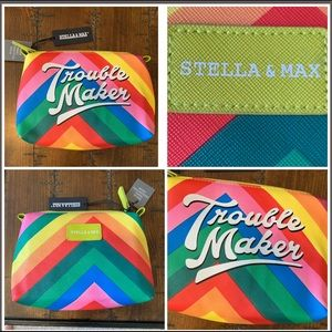 NWT Stella & Max Makeup Bag